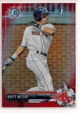 2017 Bowman Chrome Red Refractor Brett Netzer 2/5