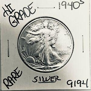1940 S LIBERTY WALKING SILVER HALF DOLLAR HI GRADE U.S. MINT RARE COIN 9194