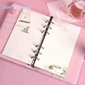 80 Pcs A6 high quality cute Kawaii filler binder paper grid blank loose leaf