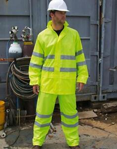 Warnschutzkleidung Warnschutzset Jacke Hose Wasserdicht RESULT Größen: XS-4XL