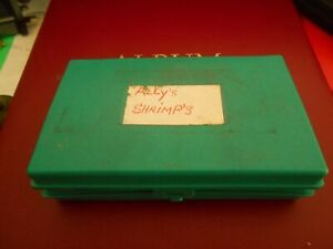 VINTAGE  PLASTIC FLY BOX WITH A SELECTION OF SALMON & TROUT FLIES
