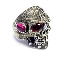 Ruby Lights By Sacred Angels Custom Skull Ring With Diamonds And
