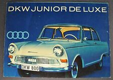 1962-1963 DKW Auto Union Junior Deluxe Sales Brochure Folder Nice Original