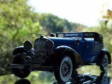 Franklin Mint 1933 Duesenberg J Victoria Blue 1:24 Scale Diecast Model Car 1991
