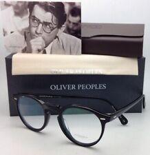 New OLIVER PEOPLES Eyeglasses GREGORY PECK OV 5186 1005 47-23 Round Black Frames