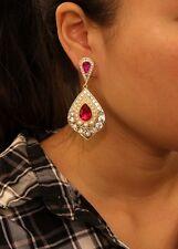 ohrringe`Ohren Clips Tropf Art Déco rosa lebhaft Class Hintergrund- Ehe Geschenk