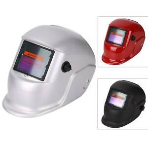 Welding Helmet Mask Auto Darkening Welders Arc Tig Mig Grinding Solar Powered UK