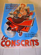 affiche ancienne Laurel et Hardy les conscrits cinéma ( ca 1 )
