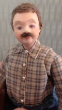 1:12 scale Dollhouse Miniature Porcelain Man Doll, Handcrafted Ooak Grandfather.