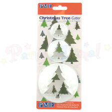 PME Christmas Tree Cutter Set of 3 - 25/35/65mm Cake Toppers/Cookies/Biscuits