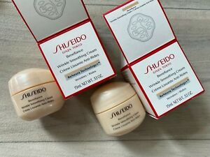2 x Shiseido Benefiance Wrinkle Smoothing Cream 15ml New Boxed