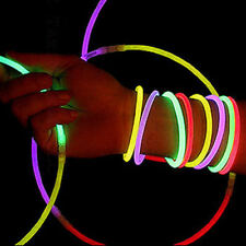 "3000 10"" Glow Sticks Light Necklace Bracelets Party Lot"