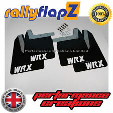 Qty4 Mud Flaps & Fixings SUBARU IMPREZA New Age 01-07 4mm PVC Black WRX White