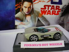2017 STAR WARS the Last Jedi REY JEDI TRAINING✰Loose✰Hot Wheels Character Cars🎬