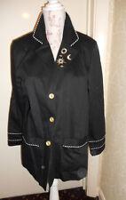 Vintage blue black ladies jacket sun moon sailor 12 14 Peter Popovitch blazer