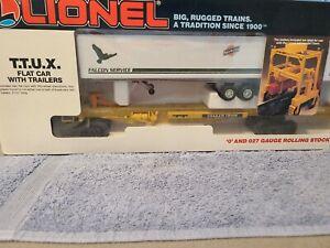 Lionel 6-16334 Chicago & Northwestern TTUX Flatcar Set. Original Packaging!