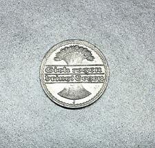 "50 PFENNIG 1921 ALLEMAGNE "" gerbe de blé "" sich regen bringt segen - ALUMINIUM."
