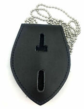 Universal Badge holder Leather Police Detective Badge Holder Chain Clip Holder