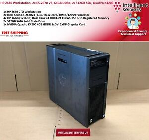 HP Z640 Workstation, 2x Xeon E5-2670 V3, 64GB DDR4, 2x 512GB SSD, Quadro K4200
