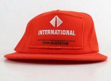 International Navistar Truck Patch Orange Foam Vintage Trucker Snapback Hat