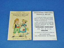 CHROMO CHOCOLATERIE FRANCO-BELGE HALLUIN NORD COSTUMES FRANCE COTE D'AZUR