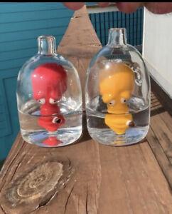 Heady Puff Glass Red Roger Head In A Bottle Rig, Waterpipe, Bong, Hookah