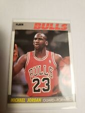 Michael Jordan 1987 Fleer Second Year Reprint Card 59