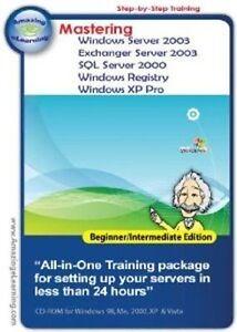 Mastering Windows Servers Software Training  Brand New 5 CD Bundle
