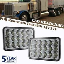 "4x6"" CREE Hi/Lo Sealed Beam 75W LED Headlights Headlamp For Kenworth Peterbilt"
