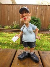 Postal Worker Postwoman Warren Stratford 9.25in.Resin Comical Figurine Gift USPS
