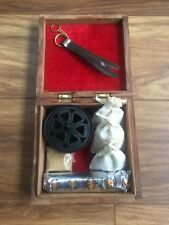 Incense burner kit / set - containing frankincense, myrrh & benzoin resin.