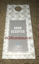 "SENECA NIAGARA RESORT & CASINO DO NOT DISTURB DND SIGN ""ROOM OCCUPIED"""