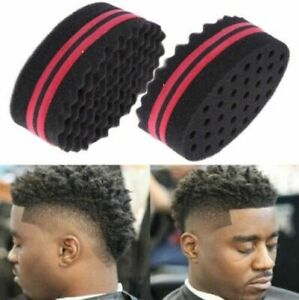Wave Barber Hair Brush Sponge Double Sided Locking Twists Afro Curl Wave