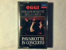 LUCIANO PAVAROTTI In concerto vol. 2 mc cassette k7 OGGI NUOVA UNPLAYED!!!