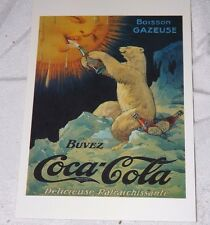 Postcard of a Coca-Cola Poster for France Boisson Gazeuse Unposted