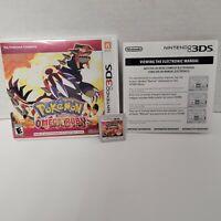 Pokemon Omega Ruby (Nintendo 3DS) XL 2DS Game w/Case & Insert CIB Complete
