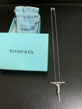 Tiffany & Co. Sterling Silver Peretti Crucifix Cross Pendant Necklace 18""