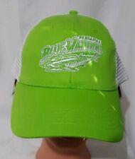 Pensacola Blue Wahoos Baseball Cap Mesh Back Adjustable Back Lime Green White