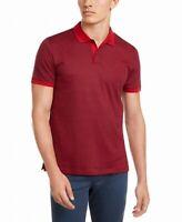 Calvin Klein Mens Shirt Red Size 2XL Polo Micro Stripe Liquid Touch $65 #005