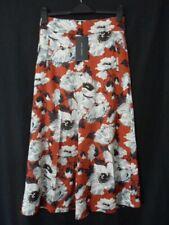 BNWT 'ZARA' Rust Floral Skirt Culottes Size S