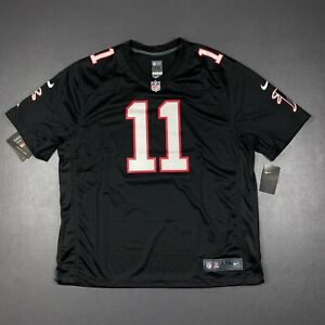 100% Authentic Julio Jones Nike Falcons On Field Game Jersey Size 2XL 52 Mens