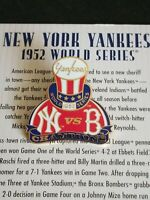 1952 WORLD SERIES PIN WILLABEE & WARD NEW YORK YANKEES VS. BROOKLYN DODGERS