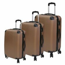 Set of 3 Hard Shell Suitcase Case Trolley Travel Hard Cabin Case 4 Wheel FY