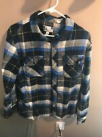 DG Men's  Flannel Shirt Blue Black size M