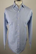 "Classic men's Polo Ralph Lauren pale blue check long sleeved shirt XL 48"" 16 Col"