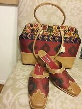 Sharif Studio Couture  Satchel Bag Purse and Shoes size 11 women SET NWT RARE
