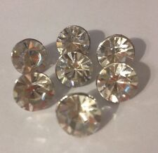 Lot 7 Vintage Rhinestone Buttons, Crafts Sewing Jewelry, Metal,Sparkly