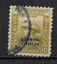 PHILIPPINES , USA , 1938/40 , COMMONWEALTH , 20c STAMP O.P.  PERF, USED