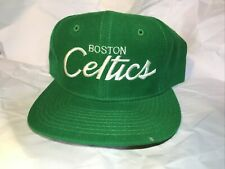 Boston Celtics HAT CAP Script Sports Specialties Wool Vintage 1980s 90s snapback