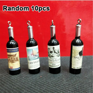 20pcs Wine Bottle Shaped Resin Pendant Charms Jewelry Findings DIY Accessories